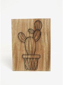 Dřevěný obraz s motivem kaktusu SIFCON