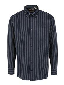 Tmavomodrá pruhovaná comfort fit košeľa JP 1880