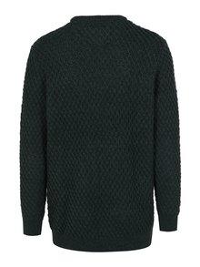 Tmavě zelený svetr s příměsí vlny JP 1880