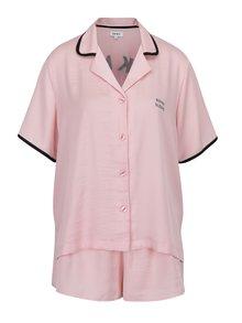 Ružová súprava pyžama a masky na spanie DKNY