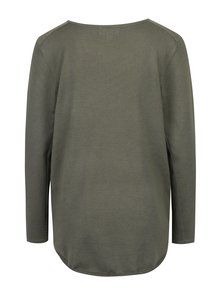 Khaki svetr se zipy Apricot