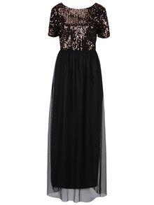 Rochie maxi negru&bronz cu tul si paiete ONLY Confidence