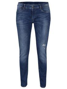 Blugi slim albastri cu aspect prespalat pentru femei - Pepe Jeans Joey