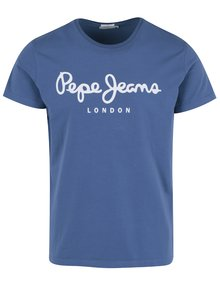 Modré pánské tričko Pepe Jeans Original Stretch