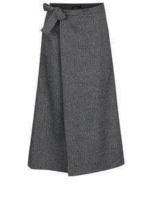 Sivé vlnené culottes s jemným vzorom Lena Criveanu
