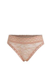 Starorůžové krajkové kalhotky Y.A.S Mable