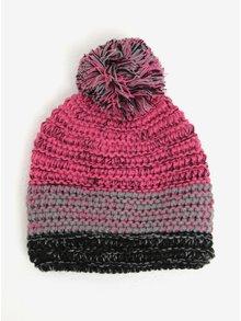 Ružová dievčenská čiapka s brmbolcom 5.10.15