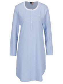Bielo-modrá pruhovaná nočná košeľa Ralph Lauren Henley
