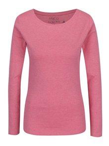 Ružové basic tričko s dlhým rukávom M&Co