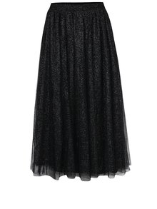 Černá tylová midi sukně se třpytkami Dorothy Perkins