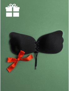 Čierna samostatne držiaca push up podprsenka so šnurovaním Eve's Bra