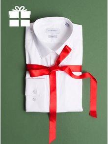 Bílá formální slim fit košile odolná proti skvrnám LABFRESH