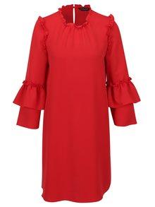 Červené šaty s volánmi Dorothy Perkins