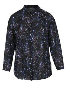 Černá košile s motivem ohňostroje Ulla Popken