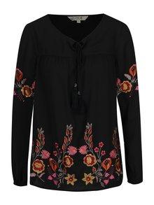 Bluza neagra cu broderie florala  M&Co