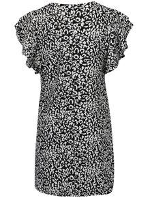 Krémovo-černé vzorované šaty s volány Dorothy Perkins