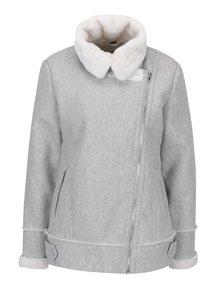 Šedý zimní křivák s umělou kožešinou Dorothy Perkins