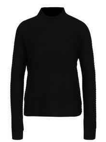 Pulover negru cu model in dungi - Haily's