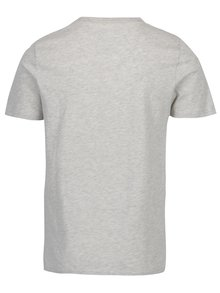 Tricou gri deschis cu print text Jack & Jones Vintage Recycle Adam