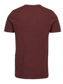 Tricou bordo&albastru inchis cu print text Jack & Jones Vintage Recycle Adam