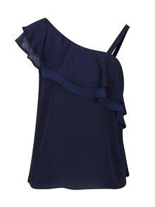 Tmavě modrá halenka s odhaleným ramenem Dorothy Perkins