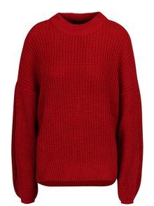 Červený sveter s balónovými rukávmi TALLY WEiJL