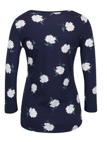 Tmavomodré kvetované tričko Dorothy Perkins