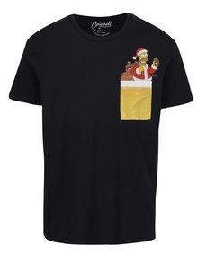 Černé tričko s potiskem a kapsou Jack & Jones Originals Bart