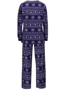 Fialové dámské fleecové pyžamo s vánočním motivem M&Co