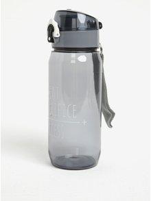 Šedá lahev na vodu s uzamykatelným uzávěrem Loooqs Sweet 600ml