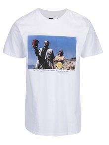 Bílé tričko s potiskem Dedicated Stockholm Donny