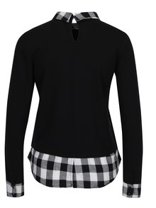 Sivo-čierne tričko s golierom Haily´s Tubi