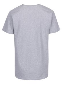 Sivé tričko s potlačou Dedicated Stockholm Crate Digger