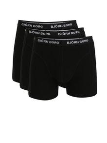 Súprava troch boxeriek v čiernej farbe Björn Borg
