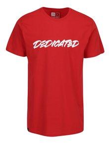 Červené tričko s potiskem Dedicated Marker