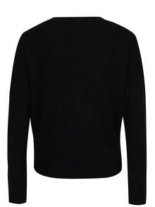 Čierny sveter s motívom mačky TALLY WEiJL