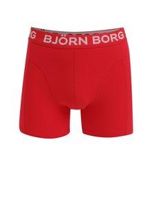 Set de 3 perechi de boxeri negru verde & rosu - Björn Borg