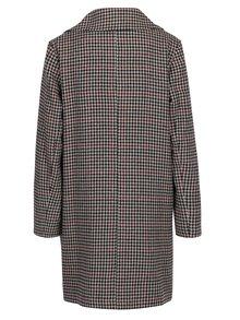 Jacheta cu revere si model houndstooth crem & negru - Miss Selfridge