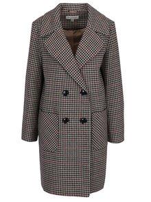 Krémový vzorovaný dlouhý kabát Miss Selfridge