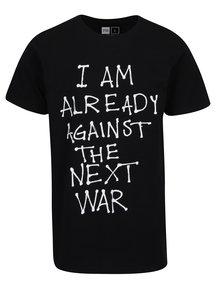Čierne tričko s potlačou Dedicated Stockholm Next War