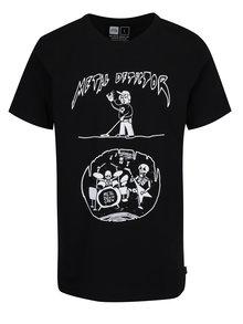 Tricou negru cu print haios Dedicated Stockholm Metal Detector