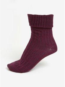 Fialové dámske vlnené ponožky s jemným vzorom mp Denmark Beatrix