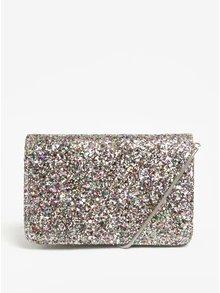 Třpytivá crossbody kabelka ve stříbrné barvě Miss Selfridge
