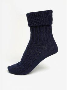 Tmavomodré dámske vlnené ponožky s jemným vzorom mp Denmark Beatrix