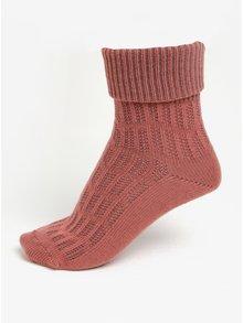 Starorůžové dámské vlněné ponožky s jemným vzorem mp Denmark Beatrix
