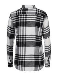 Bielo-čierna kockovaná flanelová košeľa TALLY WEiJl