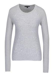 Svetlosivý sveter s flitrami TALLY WEiJL