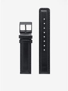 Ceas unisex negru cu curea din piele naturala - LARSEN & ERIKSEN  37 mm