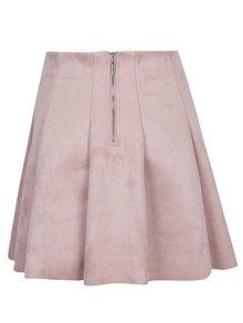 Světle růžová sukně v semišové úpravě TALLY WEiJL