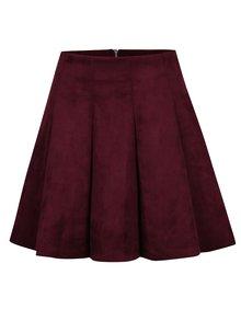 Vínová sukně v semišové úpravě TALLY WEiJL